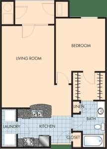 1 Bed / 1 Bath / 869 sq ft / Rent: $1,300