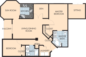 2 Bed / 2 Bath / 1,506 sq ft / Rent: $1,975