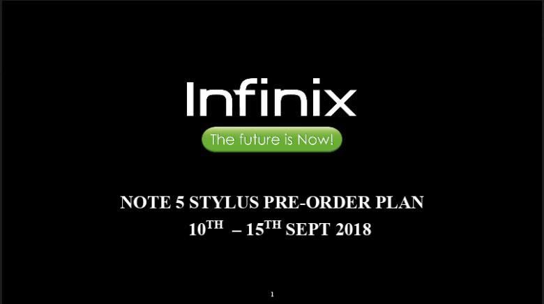 infinix note 5 stylus  Infinix Note 5 stylus Pre-Order infinix