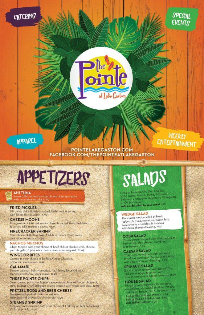 The Pointe's New Dinner Menu