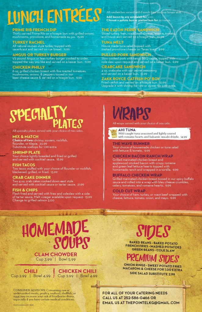 The Pointe's New Lunch Menu