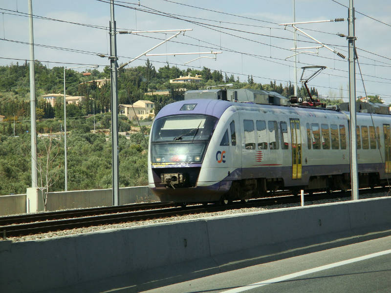 Athens suburban train