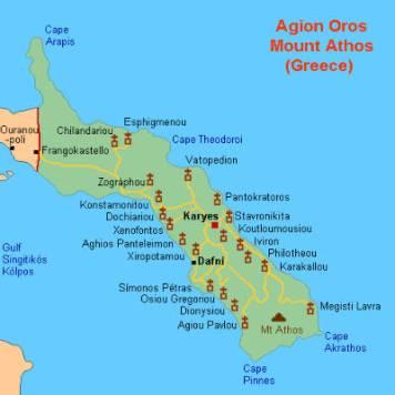 Mount Athos - Athos Map