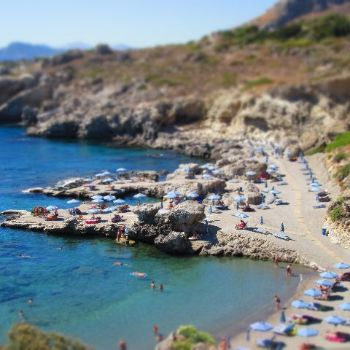 Cliffs Stone Beach Rhodes Beaches