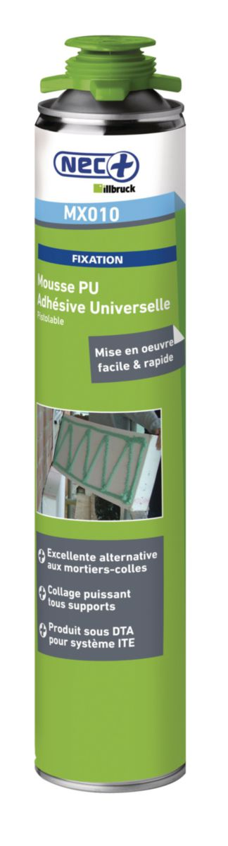 Illbruck Colle Universelle Mx010 Mousse Polyurethane Aerosol De 750 Ml Point P