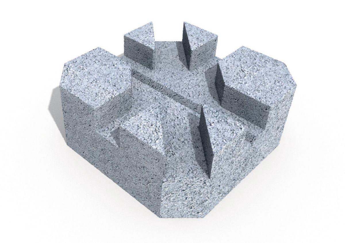 Alkern Plot Beton 24x24x10 Cm Point P