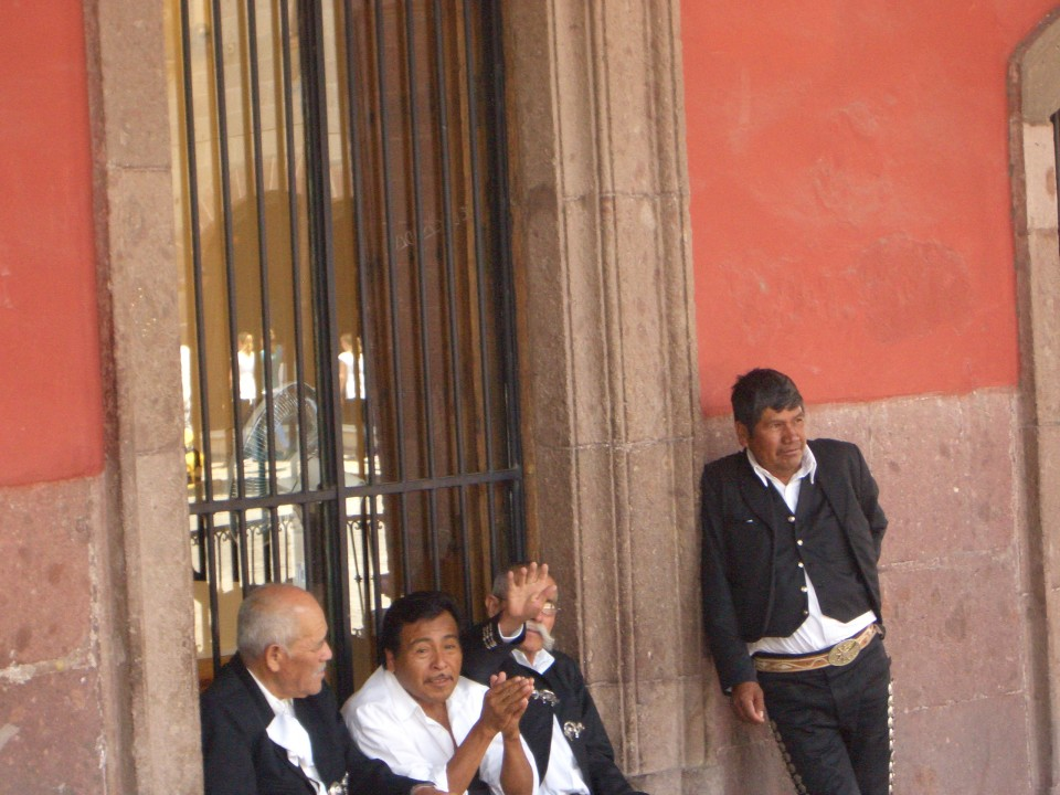 Mariachi's waiting for another chance to play you a song. San Miguel de Allende, Mexico