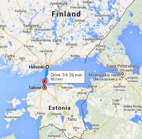 Finland/Estonia Map