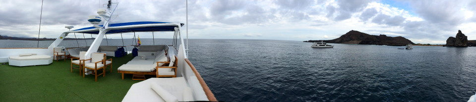 Panoramic view from the Ecoventura yacht