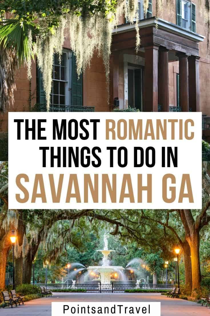 The most romantic things to do in Savannah GA, How to spend a romantic weekend in Savannah, #Savannah #Georgia
