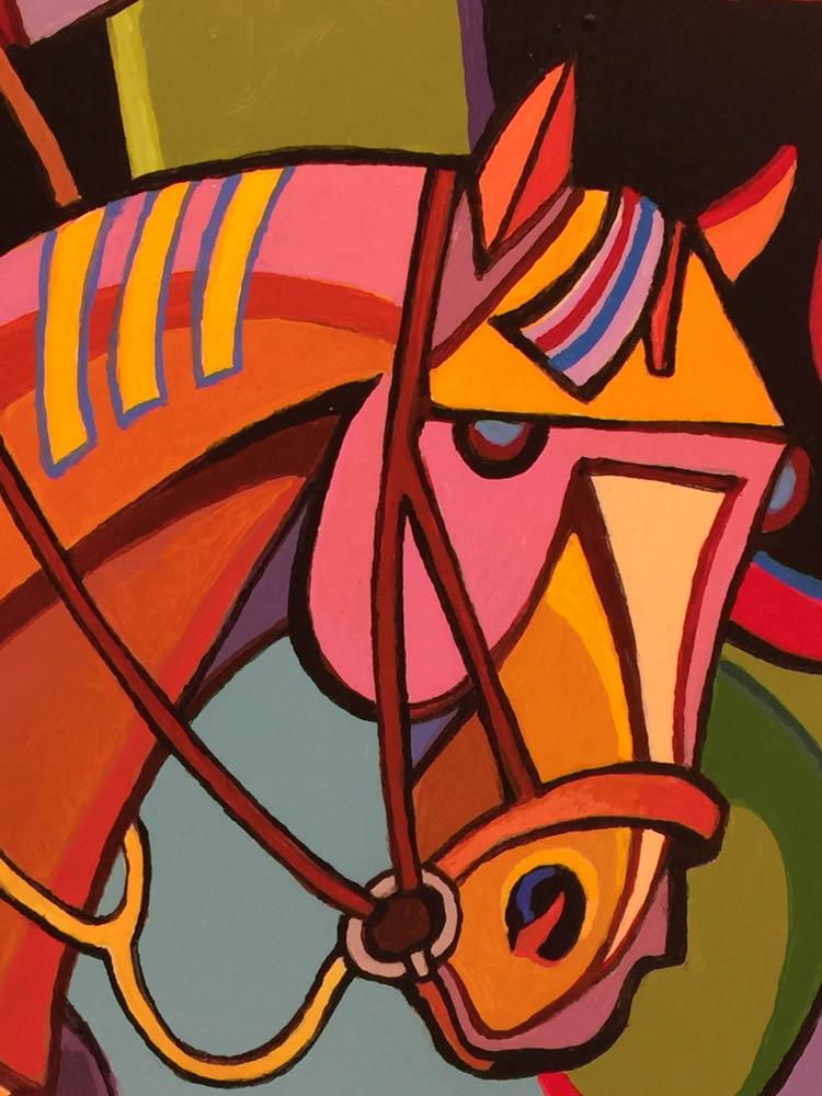 Missoula Art Museum, Horse painting