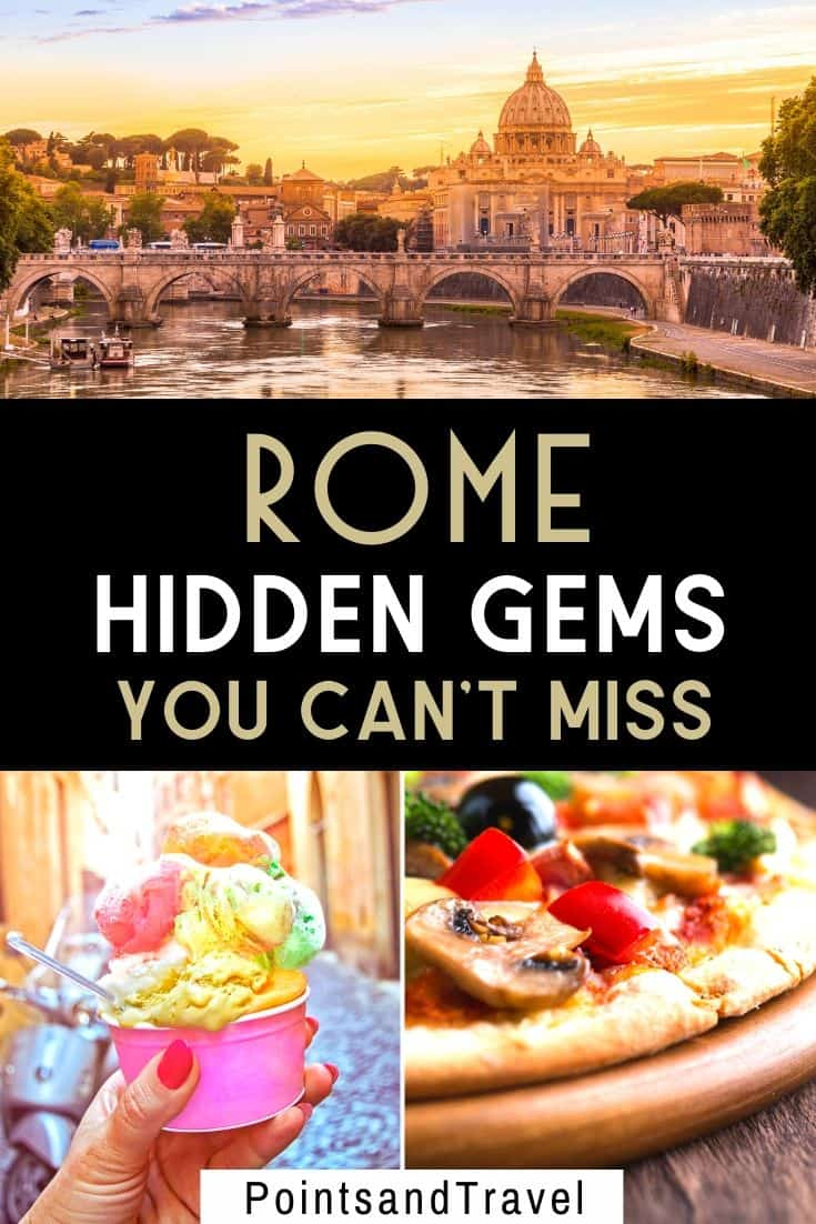 8 Hidden Gems in Rome revealed in this post! Looking for secret spots and delicious food in Rome? Check out my list of hidden gems in Rome and visit Rome off the beaten path! | Top unusual things to do in Rome | lesser known things to do in Rome | secret spots in Rome you didn't know existed | what to do in Rome that is less touristy | Rome travel tips | Rome travel guide | Secrets of Rome | Rome secrets | #rome #italy