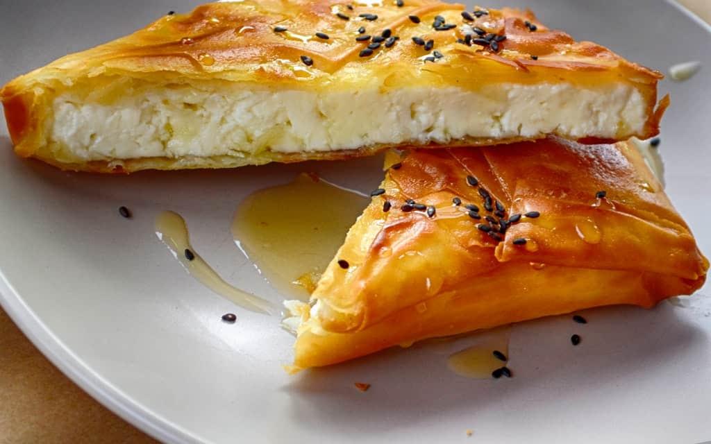 "Tiropita Pie, ""Greek Cheese Pie"", Greek food dishes, Greek food examples, Greek food list, Greek food names, #Greek"