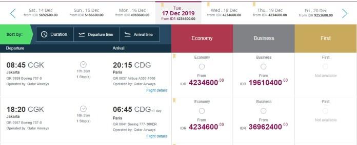 Promo Tiket Pesawat Qatar Airways Pp Jakarta Paris Rp9 Jutaan