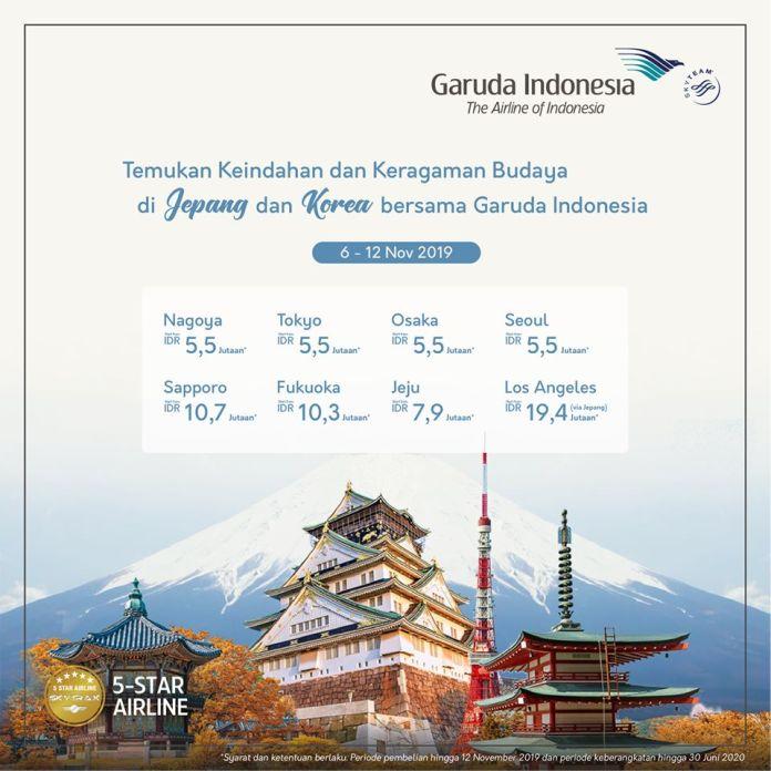 Promo Tiket Pesawat Garuda Indonesia Ke Jepang Dan Korea
