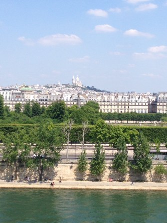 View from the roof of the museum sacre coeur