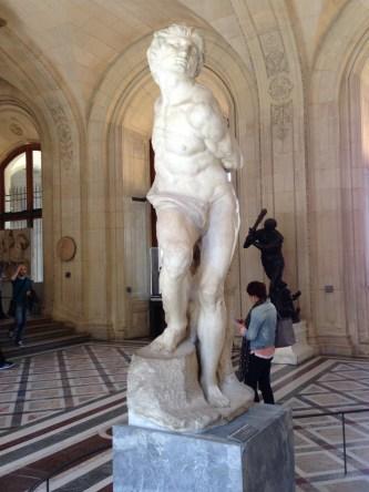 The Rebellious Slave by Michelangelo louvre paris