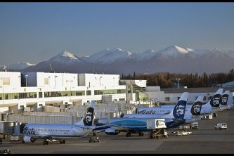 Alaska Airlines planes in Anchorage!