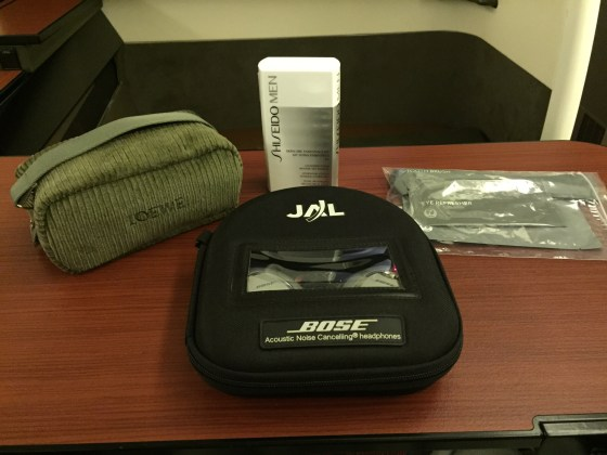 Japan airlines first class f JAL Amenity kit