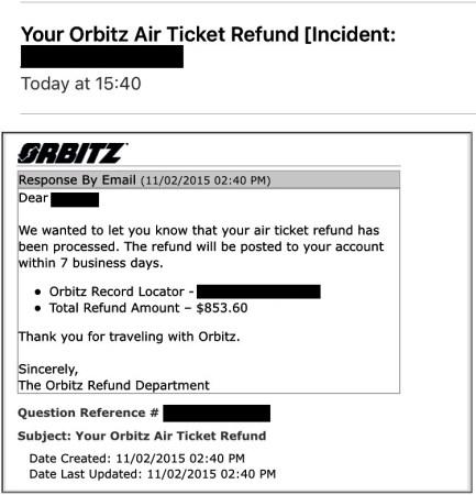 orbitz etihad mistake fare refund