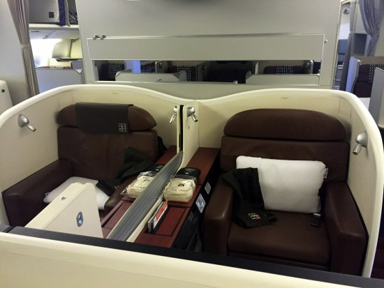 japan airlines jal first class seat
