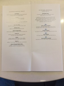 United Polaris Lounge ORD review business class chicago menu