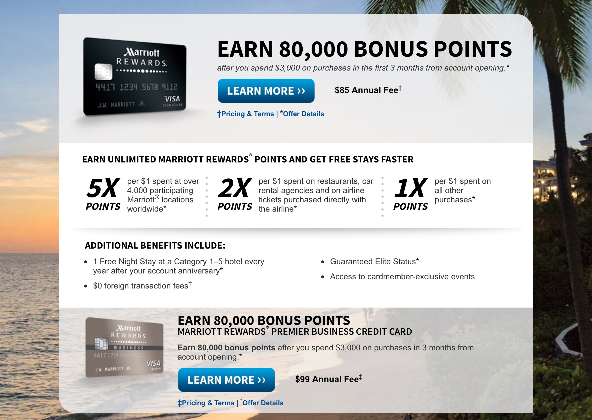 dont use your marriott credit cardever - Marriott Business Credit Card