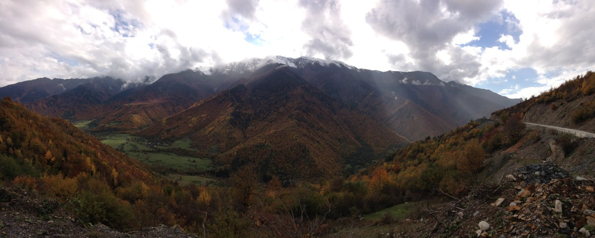 Fall colours in the Caucasus mountains