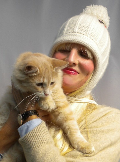 The Cat and the Hat: Mollie with Casmere aka Fluffy
