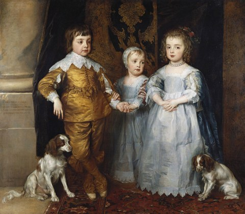 King Charles I children and dogs