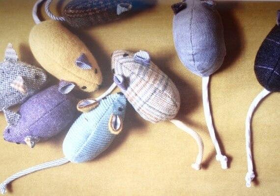 Mice Catnip Pet Cat Toy Pack OF Five Wiscraft