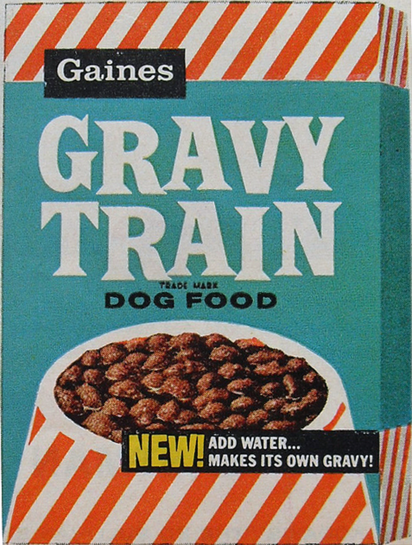 vintage gravy train box dog food