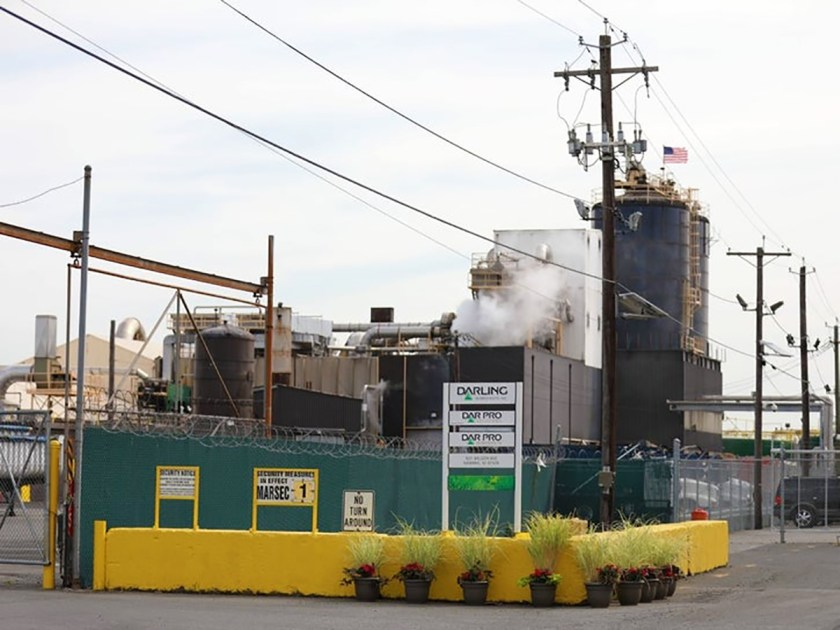 Darling Ingredients Inc. (aka Dar Pro) at the front of the beleaguered Newark, New Jersey plant where the animal waste from Bravo Packing goes to be rendered.