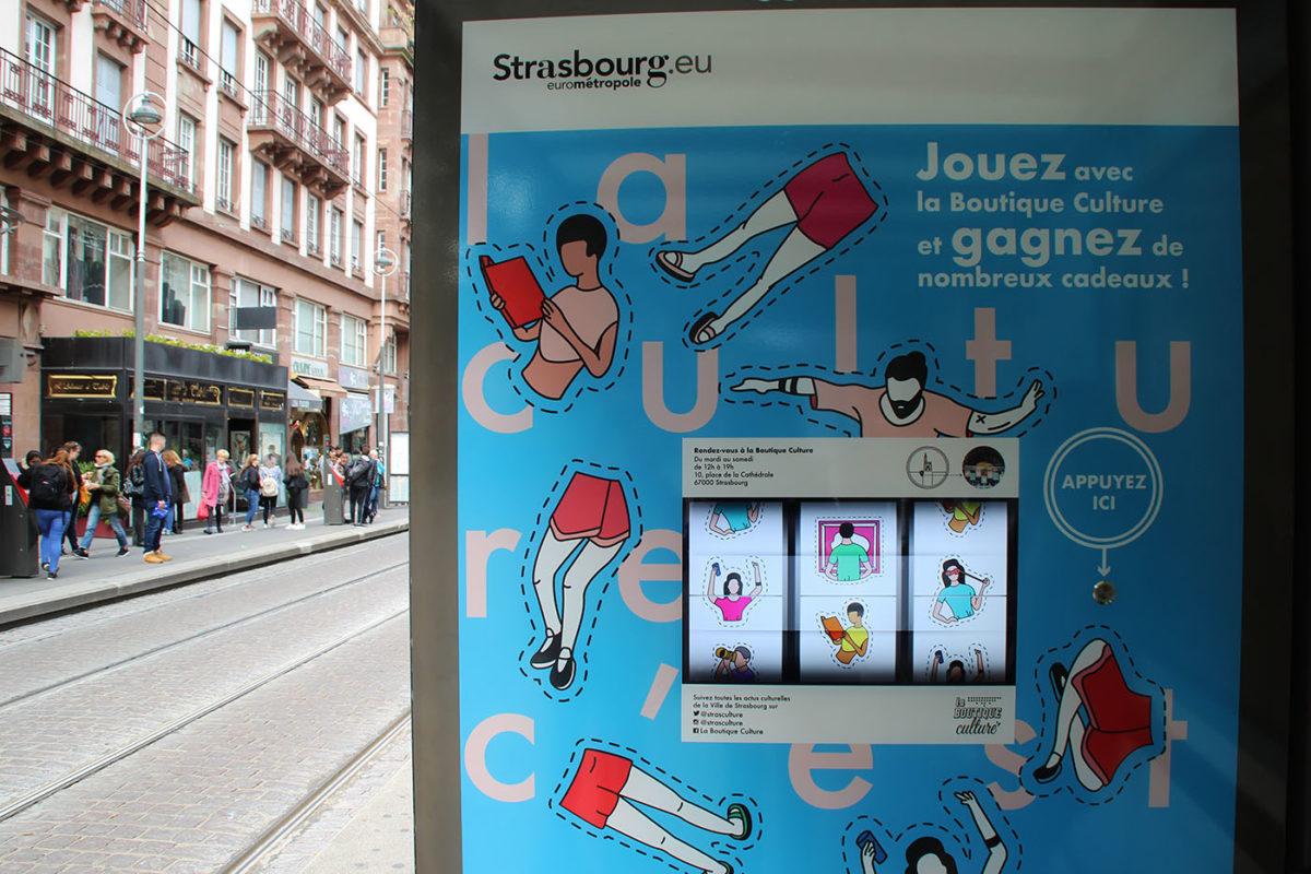 Un jeu de casino s'incruste dans un arrêt de tram strasbourgeois (et j'ai gagné !)