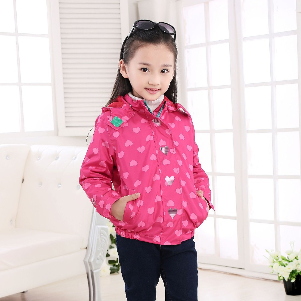 Фото Waterproof  Girls Jackets Весенняя куртка для девочек 3-12лет.