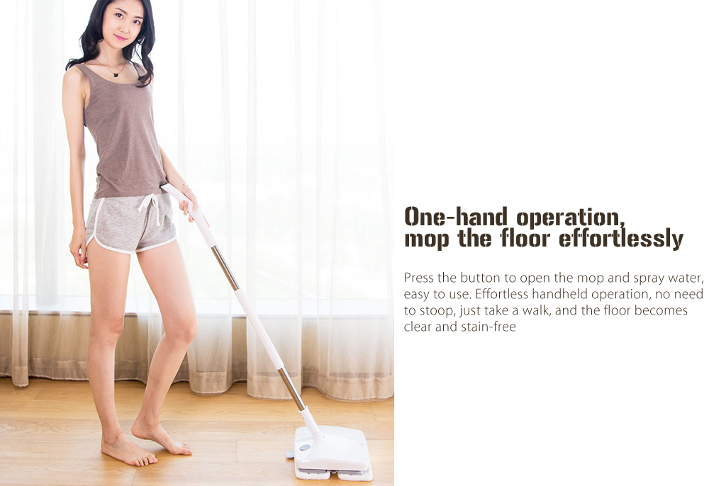 Фото Ручная беспроводная электрическая швабра Xiaomi  SWDK Wireless Handheld Electric Mop Wiper Floor Washers With Light and Built-in 2000mAh Battery With Mops DC 12V