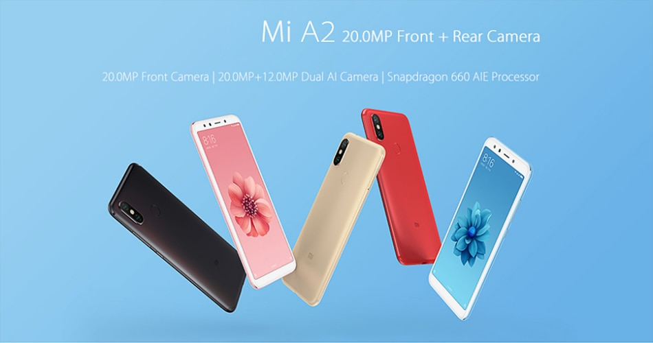 "Фото Global Version Xiaomi Mi A2 4GB 32GB/ 4GB 64GB Smartphone 20.0MP AI Dual Camera 5.99"" 18:9 Full Screen Snapdragon"