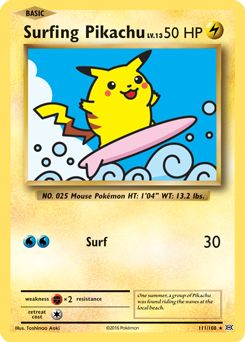 I've done all this and he still just wants to trade a flying pikachu for a ditto. Surfing Pikachu 111/108 - Evolutions - XY - Pokemon Trading Card Game - PokeMasters