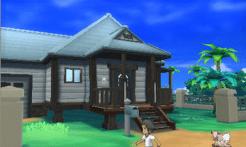 Un décor dans Pokémon Soleil...