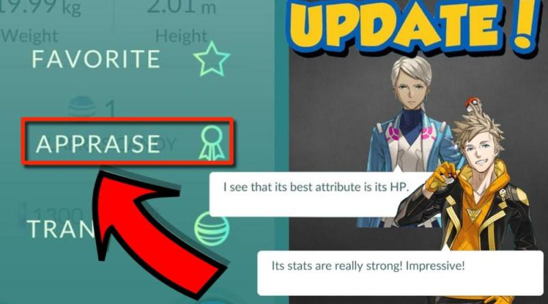 Pokemon Go - What The Appraisal Feature Is And How It Works To Identify Your Strengths