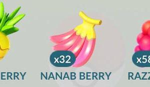 Pokemon Go Berries - Nanab Berry, Pinap Berry and Razz Berry explained and how you use them.
