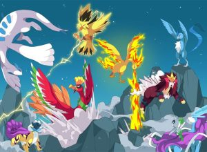 Legendary Pokémon Moltres, Entei and Ho-Oh