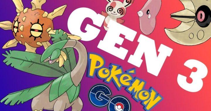 Pokemon Go Generation 3 Regionals