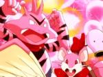 Pidgeotto, Rattata ed Electabuzz rosa nelle fantasie del Team Rocket