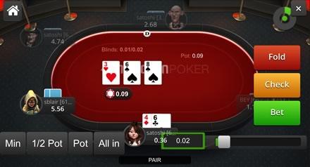 une table de poker chez nitrogen