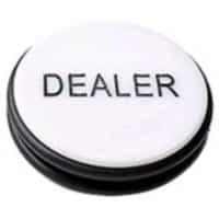 Dealer Button XL (svart/vit)