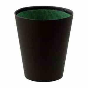 Tärningskopp i svart vinyl