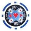 Casino Ace Blå 50 (25-pack)