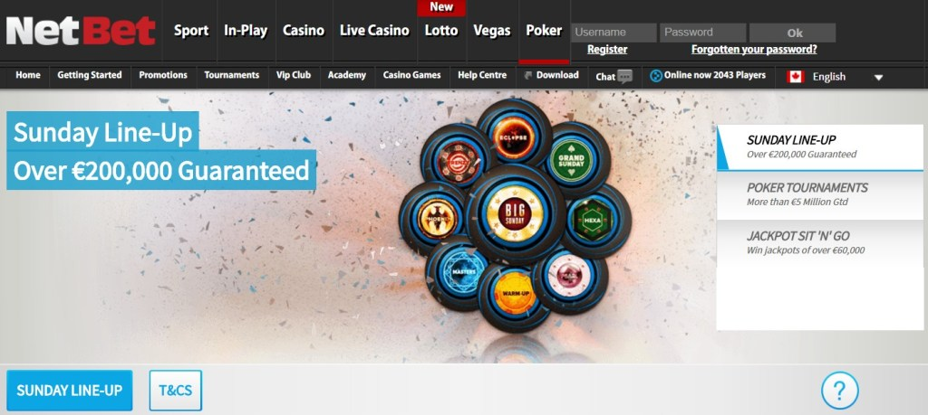 NetBet Poker room