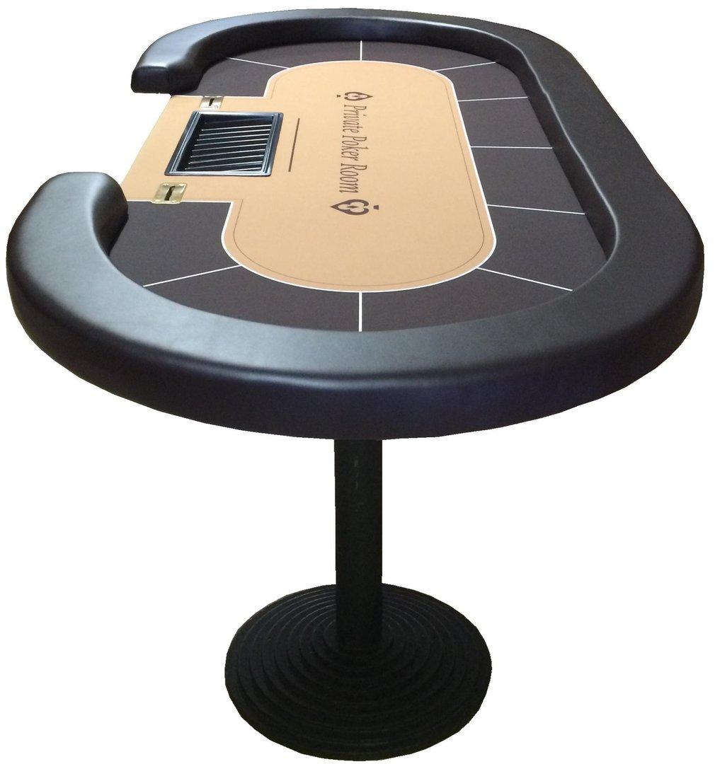 table de poker ovale personnalise croupier